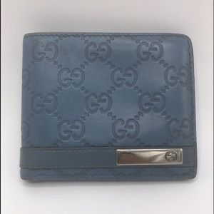 Authentic Gucci Monogram Leather Bifold Wallet